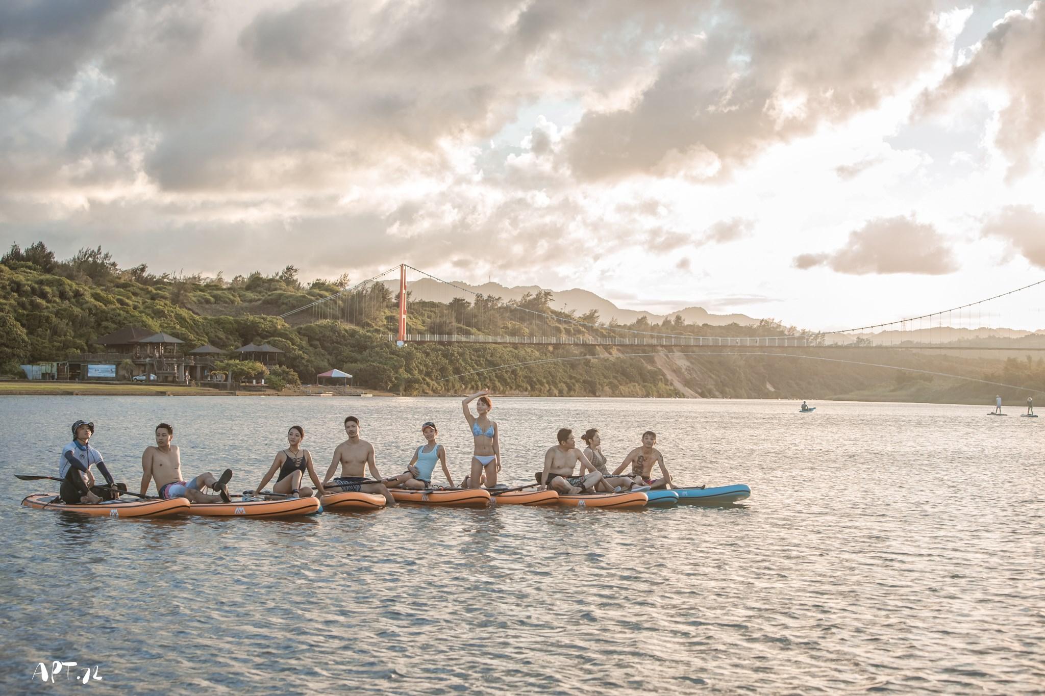 台灣【福隆雙溪河】SUP立槳X沙雕之海上體驗