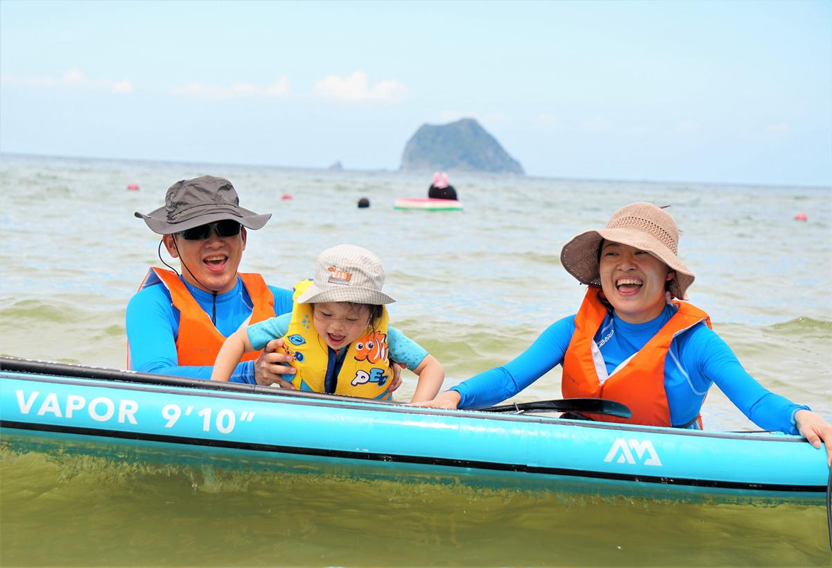 台灣【外木山】SUP立槳+浮淺親子海上體驗